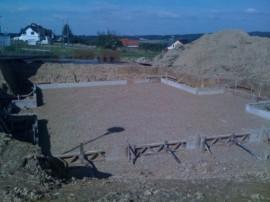 Baustellen Feinabsteckung Blockhaus