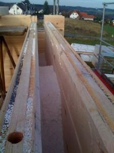 Dämmung vom Blockhaus Energiesparhaus mit Perlite