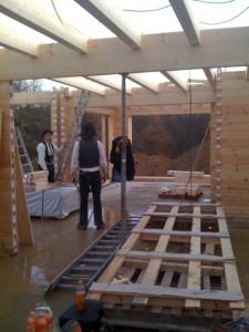 Holzhaus Bau Arbeitsschutz