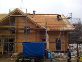 Aufdachdämmung mit Holzfaserplatte