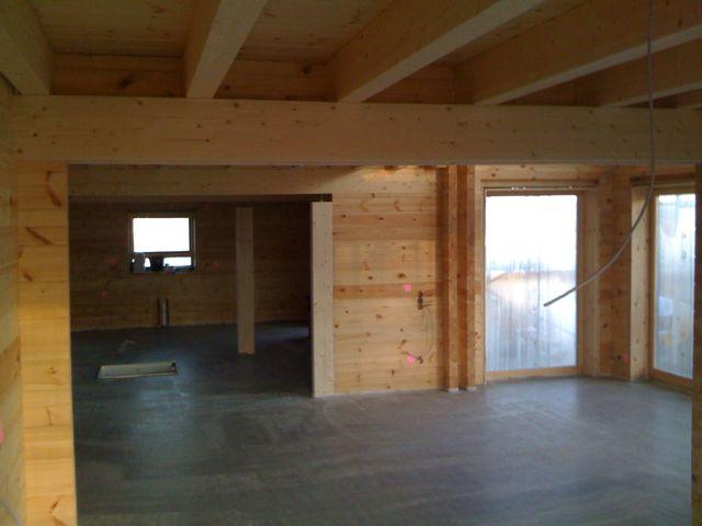 Haus mit festem estrich blockhaus - Wandaufbau holzhaus ...