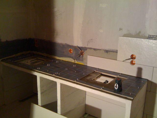 waschtisch fliesen blockhaus. Black Bedroom Furniture Sets. Home Design Ideas