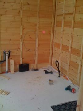 Rutschleiste Blockhaus Badezimmer