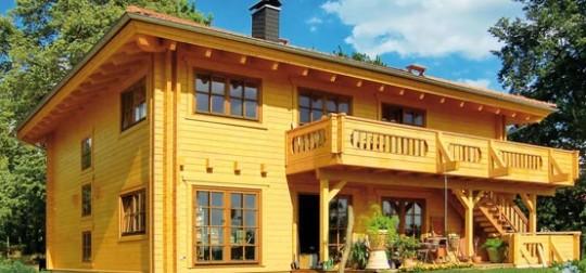 LeonWood Holz Blockhaus Villa Certaldo