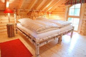 Nordic Haus Blockhaus Schlafzimmer oben