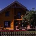Blockhaus4you Rundstamm Doppelblock Haus
