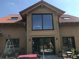 Frammelsberger Holzhaus Gartenansicht