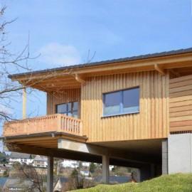 Holzschalung auf Blockhaus in Koblenz
