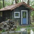 Blockbohlenhaus Sauna am See