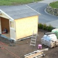 Blockbohlenhaus als Gartenhaus