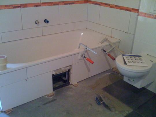 Badewanne Auswahl Einbau Holzhaus