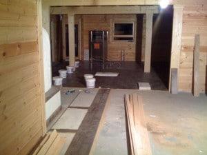 Blockhaus Holzdielen verlegen