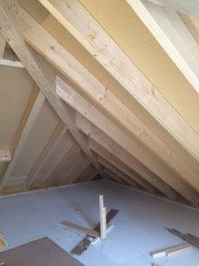 Dachanschluss Dachaufbau Wohnen in Holz