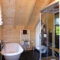 Badezimmer Holzhaus mit Lüftungsanlage