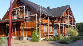 Blockhaus Gerüst Gefahr Einbrecher