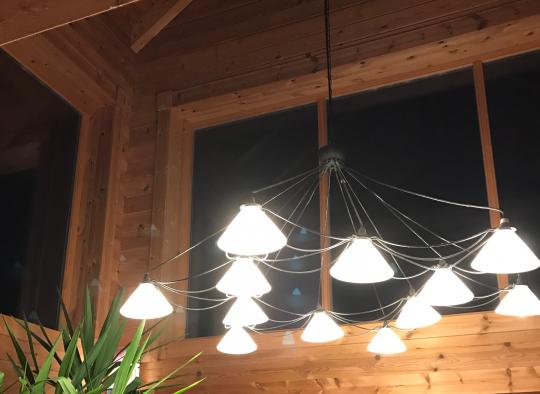 Blockhaus Innenbeleuchtung