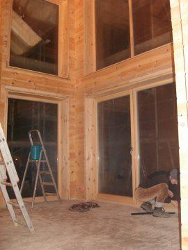 sichere schraubverbindungen im holzhausbau herstellen blockhaus. Black Bedroom Furniture Sets. Home Design Ideas
