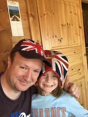England Fans im Blockhaus