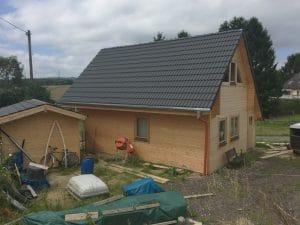 Holzhaus Bodenplatte