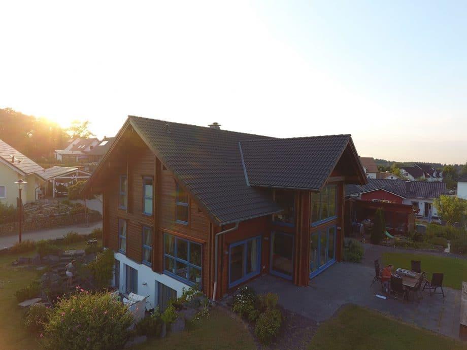 Holzhaus Dachüberstand