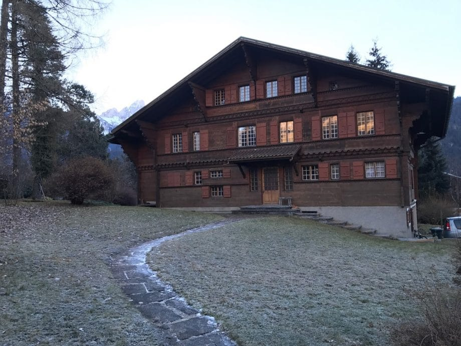 Holzhaus Feuerlöscher
